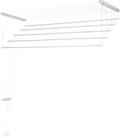 Сушилка для белья Comfort Alumin Потолочная 5 прутьев 140см (алюминий/белая) -