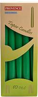 Набор свечей Белбогемия Provence 560107/72 / 13442 (10шт, зеленый) -
