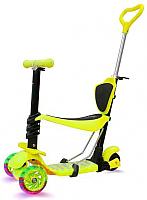 Самокат Sundays KB05B-4 (желтый, светящиеся колеса) -
