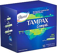 Тампоны гигиенические Tampax Compak Super (16шт) -