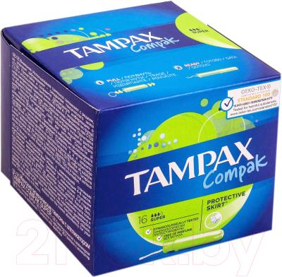 Тампоны гигиенические Tampax Compak Super (16шт)