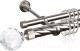 Карниз для штор АС ФОРОС Grace D25К/16Г + наконечники Кристалл (2.4м, сатин) -