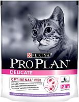 Корм для кошек Pro Plan Delicate Optirenal с индейкой (400г) -