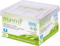 Ватные палочки Masmi Natural Cotton из органического хлопка (200шт) -