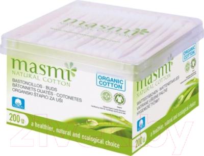 Ватные палочки Masmi Natural Cotton из органического хлопка (200шт)