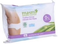 Влажные салфетки для интимной гигиены Masmi Natural Cotton (20шт) -