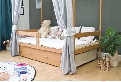 Стилизованная кровать детская Можга Р424 (бук)