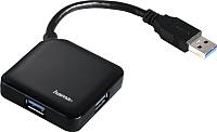 USB-хаб Hama Square 12190 (черный) -