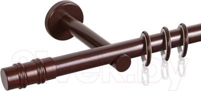 Карниз для штор АС ФОРОС Dance D19Г + наконечники Брут (1.6м, шоколад)