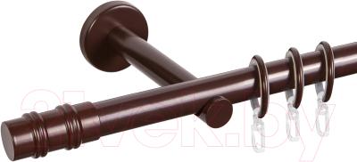 Карниз для штор АС ФОРОС Dance D19Г + наконечники Брут (2.4м, шоколад)