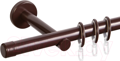 Карниз для штор АС ФОРОС Dance D19Г + наконечники Заглушка (3м, шоколад)