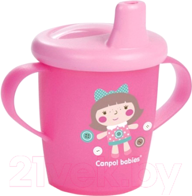 Поильник Canpol Игрушки с твердым носиком 9+ / 31/200 (250мл, розовый)