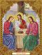 Набор алмазной вышивки Алмазная живопись Икона Святая Троица / АЖ-5041 -