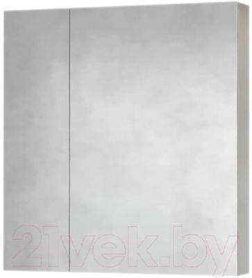 Шкаф с зеркалом для ванной Raval Quadro-Fest 75 / Qua.03.75/W