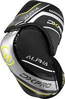 Налокотники хоккейные Warrior Alpha Dx Pro Sr Elbow Pads / DXPEPSR9-S (черный) -