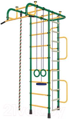 Детский спортивный комплекс Пионер 3М (зеленый/желтый)