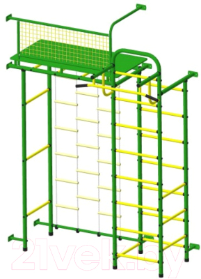 Детский спортивный комплекс Пионер 10ЛМ (зеленый/желтый)