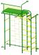 Детский спортивный комплекс Пионер 10ЛМ (зеленый/желтый) -