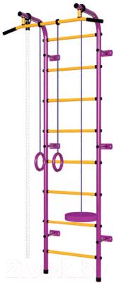 Детский спортивный комплекс Пионер С1Р (пурпурный/желтый)