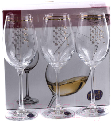 Набор бокалов Bohemia Crystal Viola 40729/Q9104/250  (6шт)