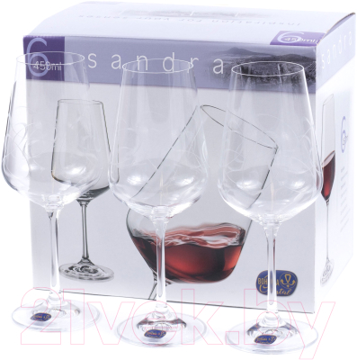 Набор бокалов Bohemia Crystal Sandra 40728/C5995/450 (6шт)