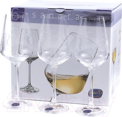 Набор бокалов Bohemia Crystal Sandra 40728/C5995/250 (6шт)