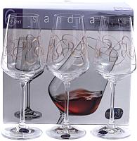 Набор бокалов Bohemia Crystal Sandra 40728/Q9203/350 (6шт) -