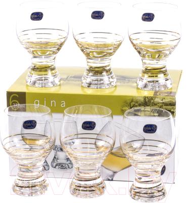 Набор бокалов Bohemia Crystal Gina 40159/M8441/230 (6шт)