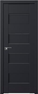 Дверь межкомнатная ProfilDoors Модерн 45U 70x200 (черный/стекло графит)