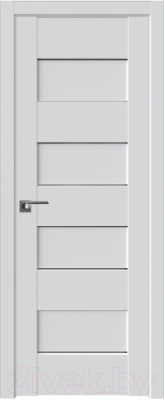 Дверь межкомнатная ProfilDoors Модерн 45U 80x200 (аляска/стекло графит)