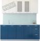Готовая кухня Артём-Мебель Оля СН-114 со стеклом МДФ 2.4м (дуб полярный/дуб лазурный) -