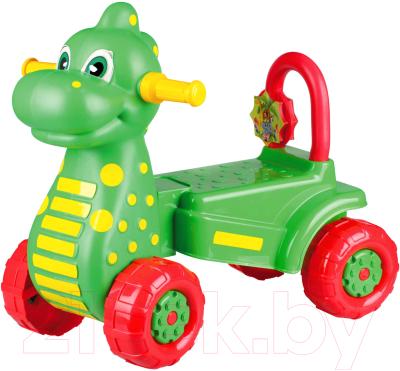 Каталка детская Альтернатива Дракон / М3897 (зеленый)