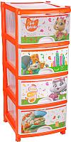 Комод пластиковый Альтернатива 44 котёнка №1 / М7643 -