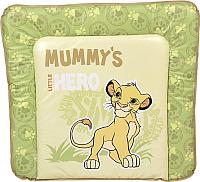 Пеленальный матрас Polini Kids Disney Baby Король Лев 77x72 (салатовый) -