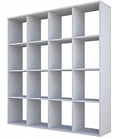 Стеллаж Polini Kids Home Smart Кубический 16 секций (белый) -