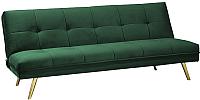 Диван Signal Moritz Velvet (зеленый/золото) -