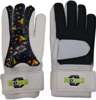 Перчатки вратарские Novus NFG-02 (M, белый/черный)