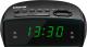 Радиочасы Mystery MCR-25 (черный/зеленый) -