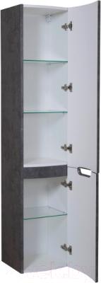 Шкаф-пенал для ванной Аква Родос HeadWay R / ОР0002707 (темный мрамор, подвесной)