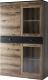 Шкаф с витриной Anrex Jagger 2V2D1S (дуб монастырский/черный) -