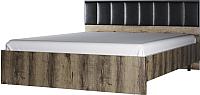 Двуспальная кровать Anrex Jagger 160 М (дуб монастырский/черный) -