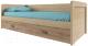 Кровать-тахта Anrex Diesel 90-2/D1 (дуб мадура/веллингтон) -