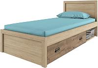 Односпальная кровать Anrex Diesel 90/D1 (дуб мадура/веллингтон) -