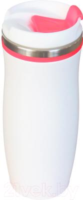 Термокружка Utta Latte 5003.05 (белый/красный)