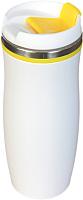 Термокружка Utta Latte 5003.06 (белый/желтый) -