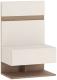 Прикроватная тумба Anrex Linate 1S/Typ 95 (белый/сонома трюфель) -