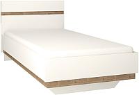 Односпальная кровать Anrex Linate 90/Typ 90 (белый/сонома трюфель) -
