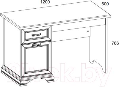Письменный стол Anrex Monako 120 (сосна винтаж/дуб анкона)
