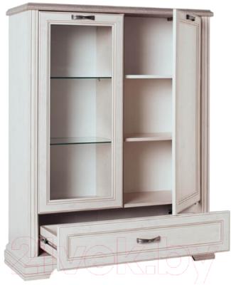 Шкаф с витриной Anrex Monako 1V1D1SL (сосна винтаж/дуб анкона)