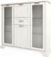 Шкаф с витриной Anrex Monako 2V2D1S (сосна винтаж/дуб анкона) -
